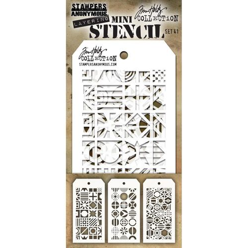 Tim Holtz Mini Layered Stencil Set #41