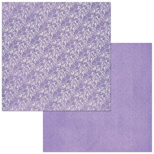 BoBunny Double Dot Lace Cardstock - Lavender