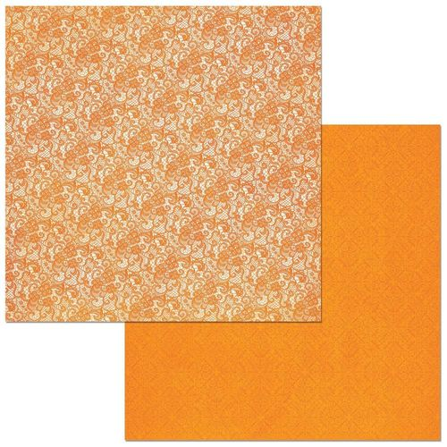BoBunny Double Dot Lace Cardstock - Pumpkin
