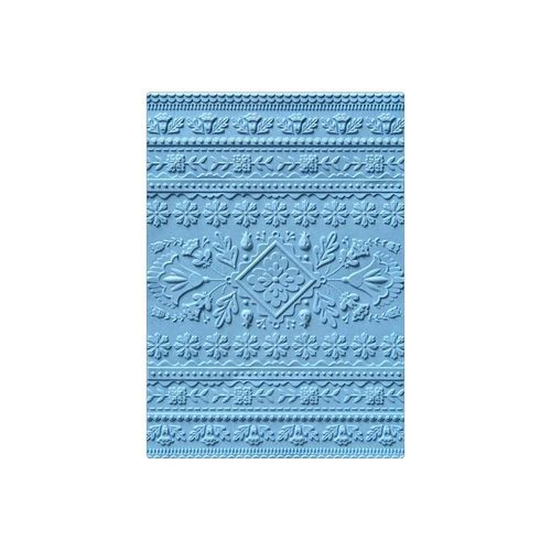 3D Texture Impressions Embossing Folder - Folk Art Pattern