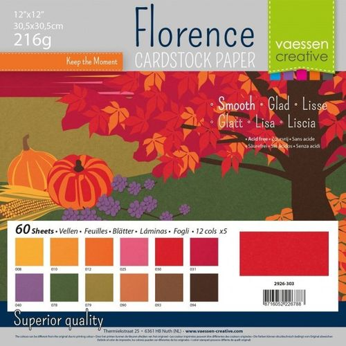 "Florence Smooth Cardstock Pack 12""X12"" - Autumn"