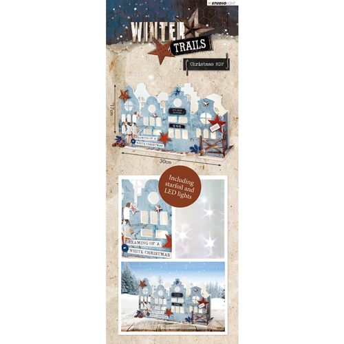 Studio Light MDF Set Winter Trails 3D Houses nr.50