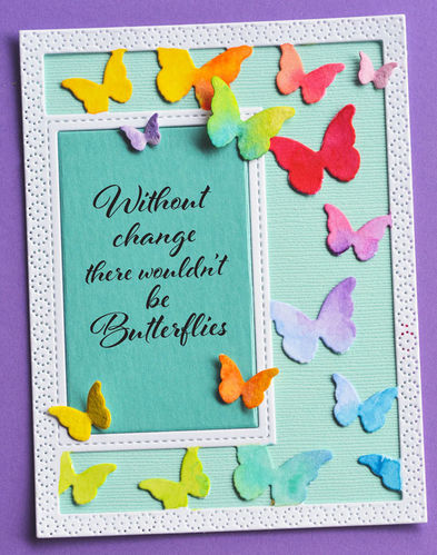 Stanzschablone Beautiful Butterflies Sidekick Frame & Stencil