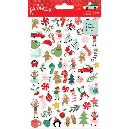 Merry Little Christmas Mini Sticker Book  w/Gold Foil Accents