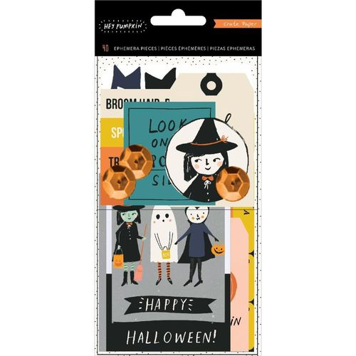 Hey, Pumpkin Ephemera Cardstock Die-Cuts W/Holographic Foil & Sequin Accents