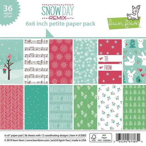 "Snow Day Remix Petite Paper Pack 6""X6"""