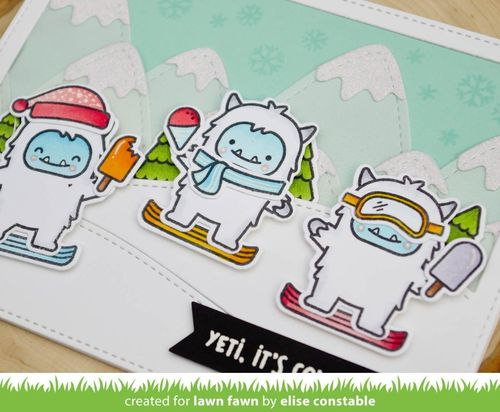 ***Clear Stamp Set inkl. Stanzschablonen - Yeti or Not***