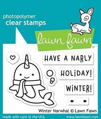 ***Clear Stamp Set inkl. Stanzschablonen - Winter Narwhal***