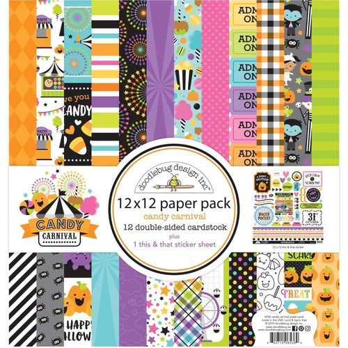 "Doodlebug Paper Pack 12""X12"" - Candy Carnival"