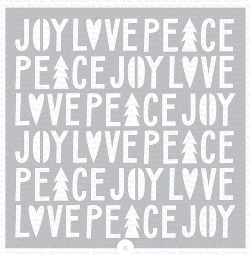 Schablone - Peace, Love and Joy