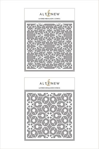 Layered Medallion A&B Stencil Bundle
