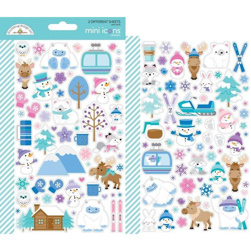 Doodlebug Mini Cardstock Stickers - Winter Wonderland Icons