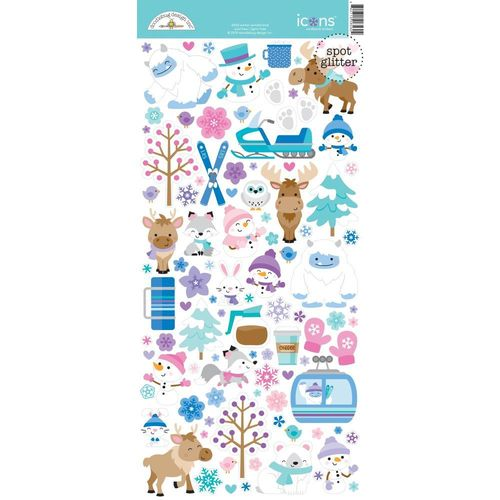 Doodlebug Cardstock Stickers - Winter Wonderland Icons