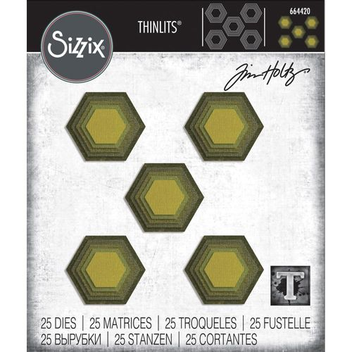 Sizzix Thinlits - Tim Holtz Stacked Tiles, Hexagons