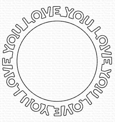 Stanzschablone - Love You Circle Frame