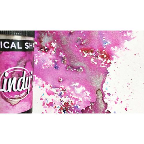 Lindy's Stamp Gang Magical Shaker - Magnolia Magenta Gold