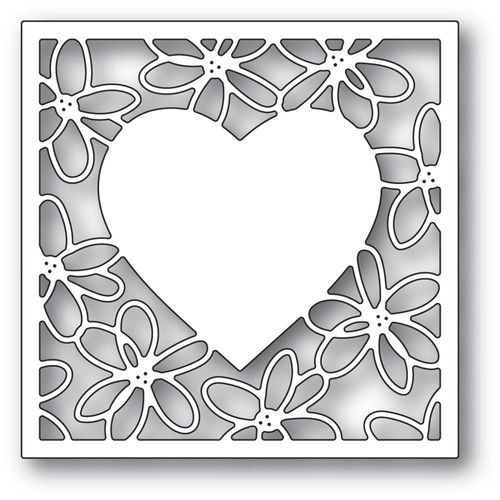 Stanzschablone Scribble Daisy Heart Frame
