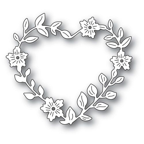 Stanzschablone Blooming Heart Wreath