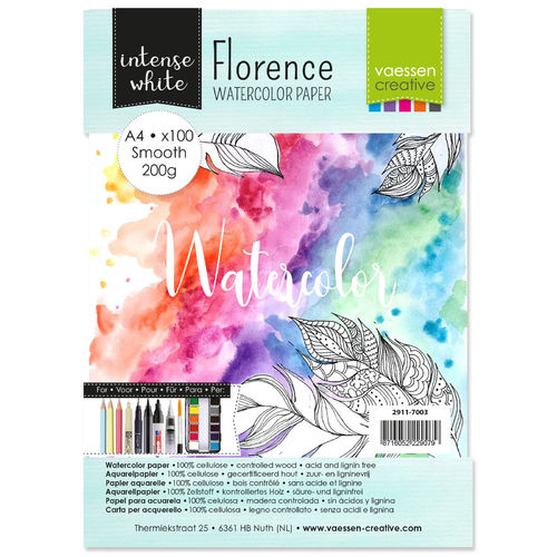 Smooth Aquarellpapier Intense White A4 (100 Blatt)