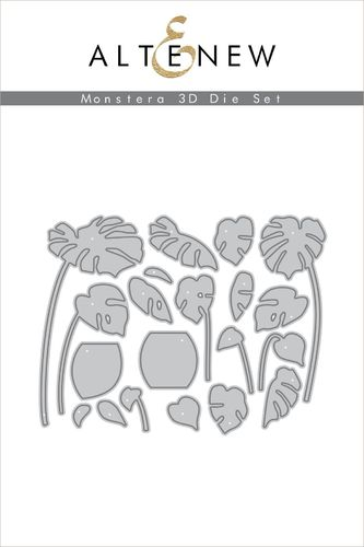 Stanzschablone Monstera 3D