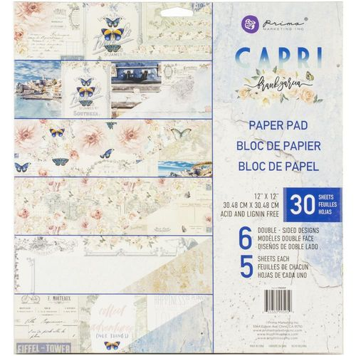 "Capri Double-Sided Paper Pad 12""X12"""