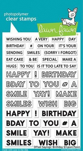 Clear - Offset Sayings: Birthday
