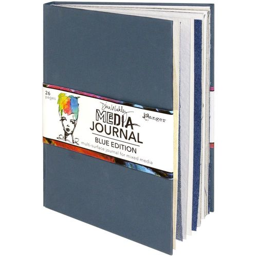 "Dina Wakley Media Journal 8""X10"" - Blue Edition"