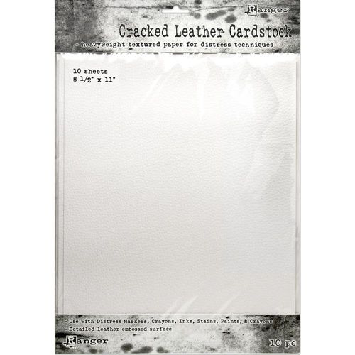 "Tim Holtz Distress Cracked Leather Cardstock 8.5""X11"""