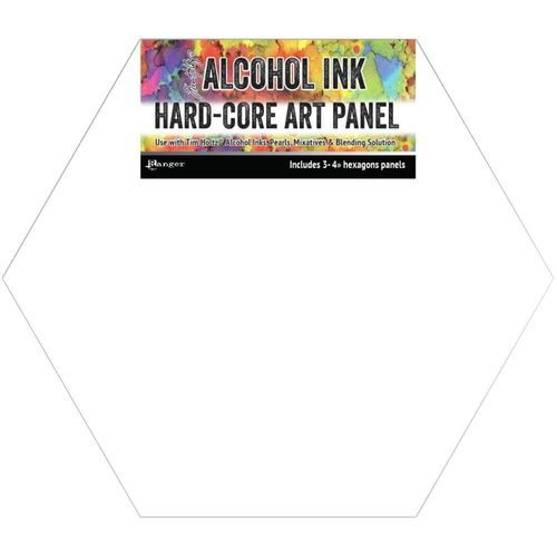 "Tim Holtz Alcohol Ink Hard Core Art Panel 4""X4"""