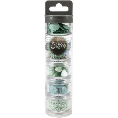 Sizzix Making Essential Sequins & Beads - Mint Julep