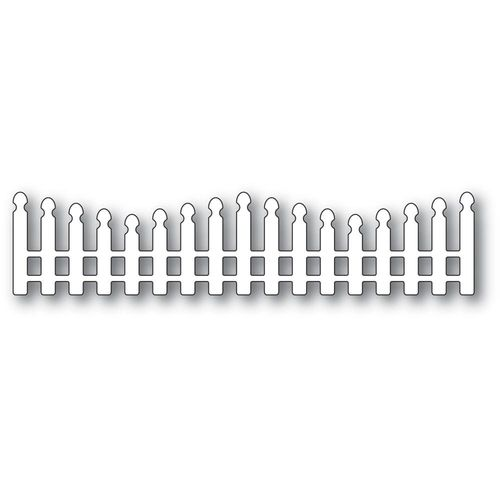 Stanzschablone Wavy Long Picket Fence