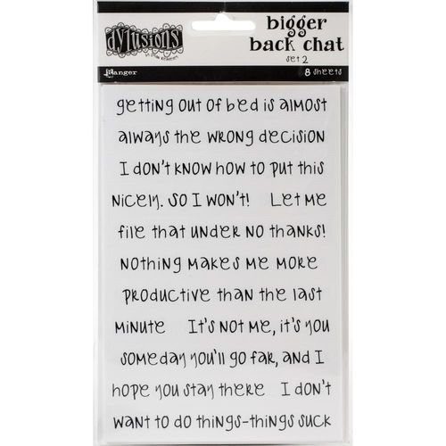 Dyan Reaveley's Dylusions Bigger Back Chat Stickers - White Set #2