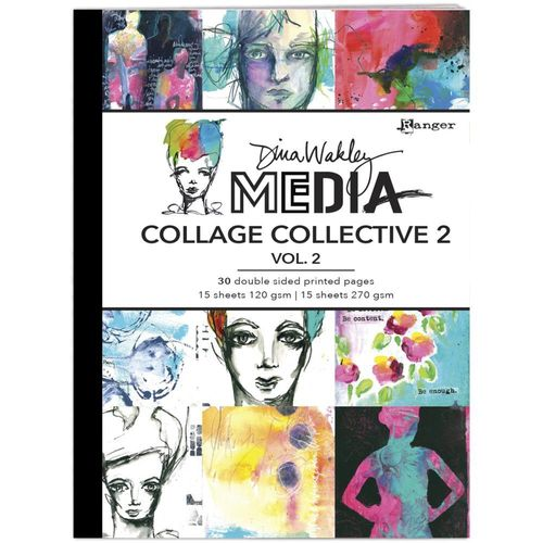 Dina Wakley Media Mixed Media Collage Collective #2 Vol 1