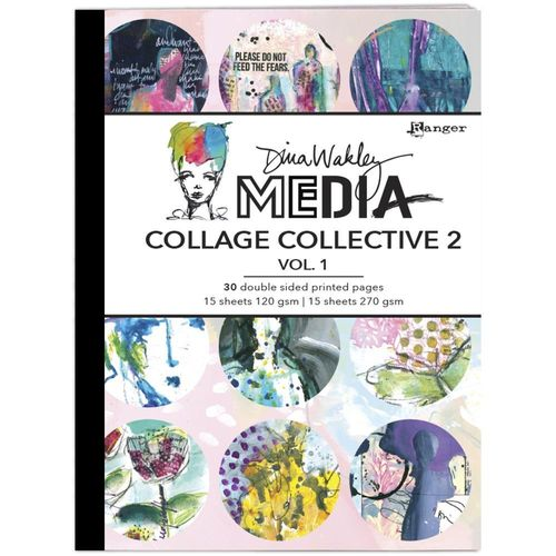 Dina Wakley Media Mixed Media Collage Collective #2 Vol 2