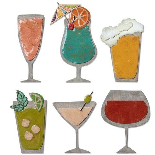 Sizzix Thinlits - Tim Holtz Happy Hour