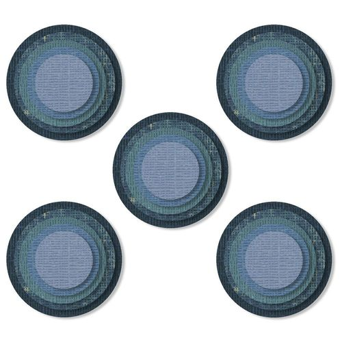 Sizzix Thinlits - Tim Holtz Stacked Tiles, Circles