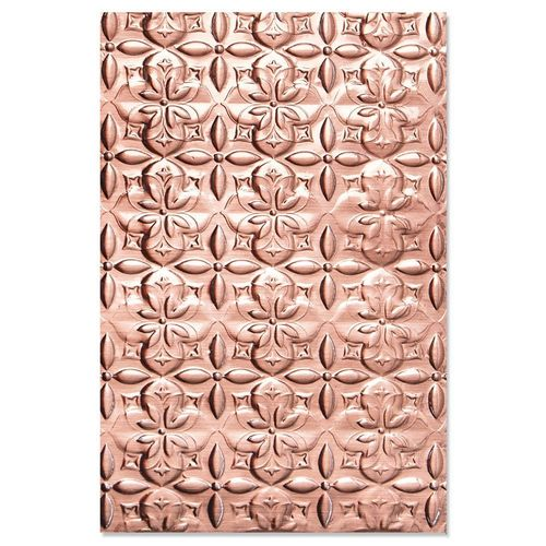 Textured Impressions Embossing Folder - Adorned Tile