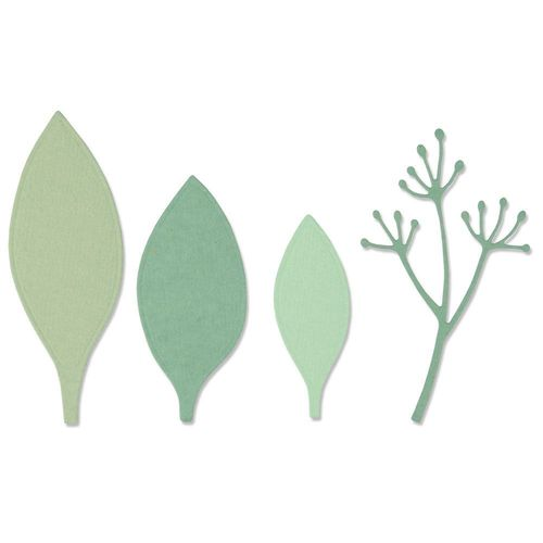 Sizzix Thinlits - Elegant Leaves
