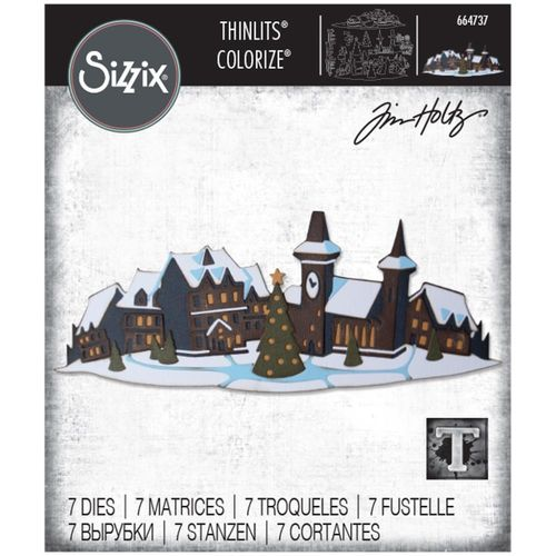 Sizzix Thinlits - Tim Holtz Holiday Village Colorize