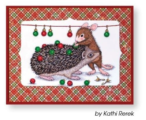 Cling - House Mouse Holiday Hedgehog