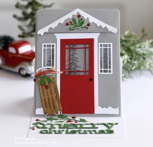 Stanzschablone Winter Porch Pop Up Easel Set