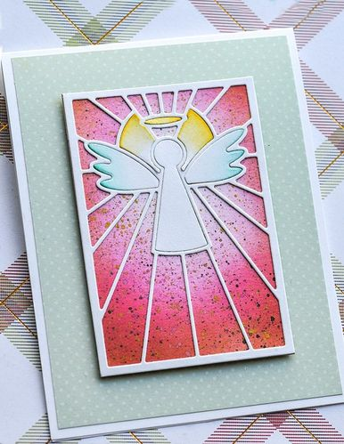 Stanzschablone Stained Glass Angel