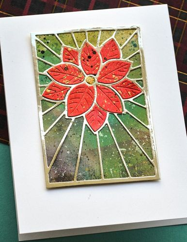 Stanzschablone Stained Glass Poinsettia