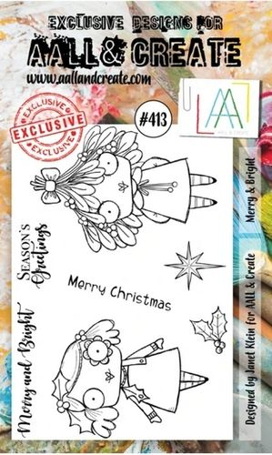 Clear Set A6 - #413 Merry & Bright