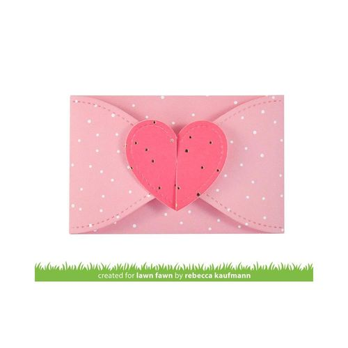 Stanzschablone - Gift Card Heart Envelope