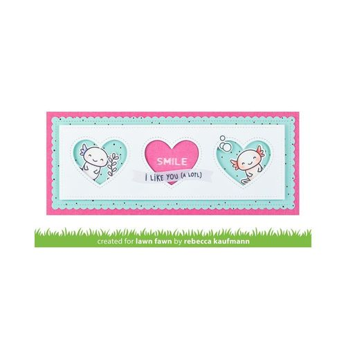 Stanzschablone - Scalloped Slimline with Hearts: Landscape