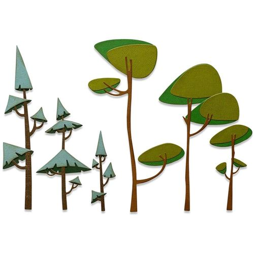 Sizzix Thinlits - Tim Holtz Funky Trees